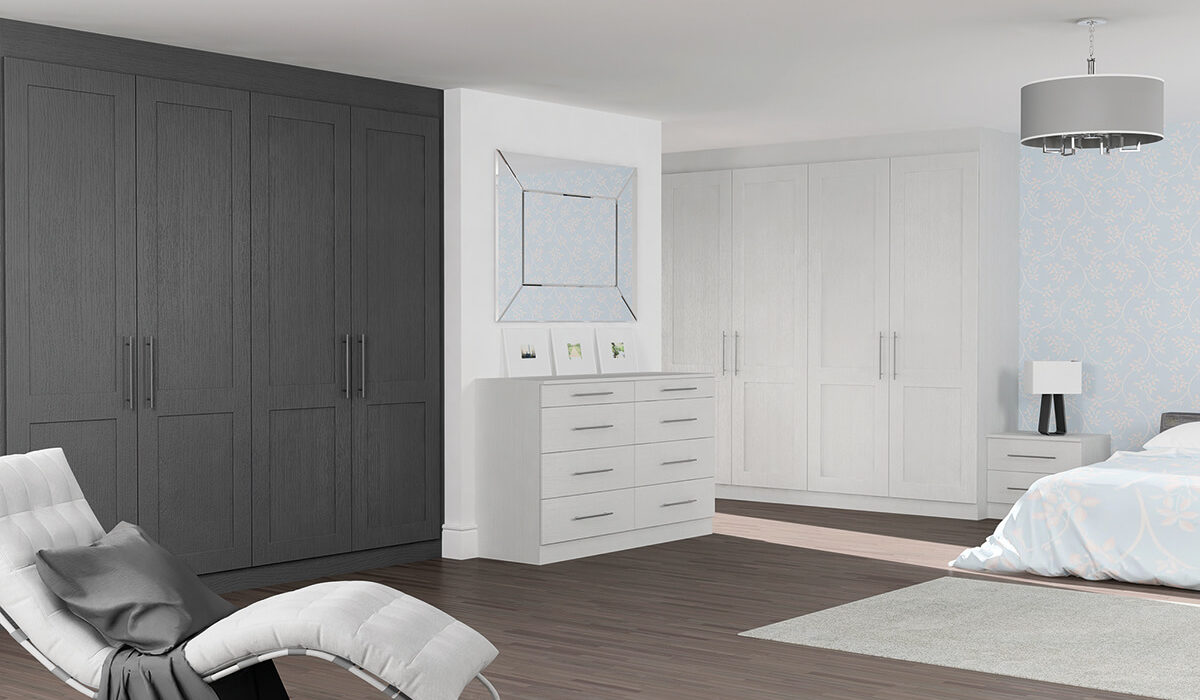 Coniston Bedrooms Matfen Light Grey Oak Graphite Oak