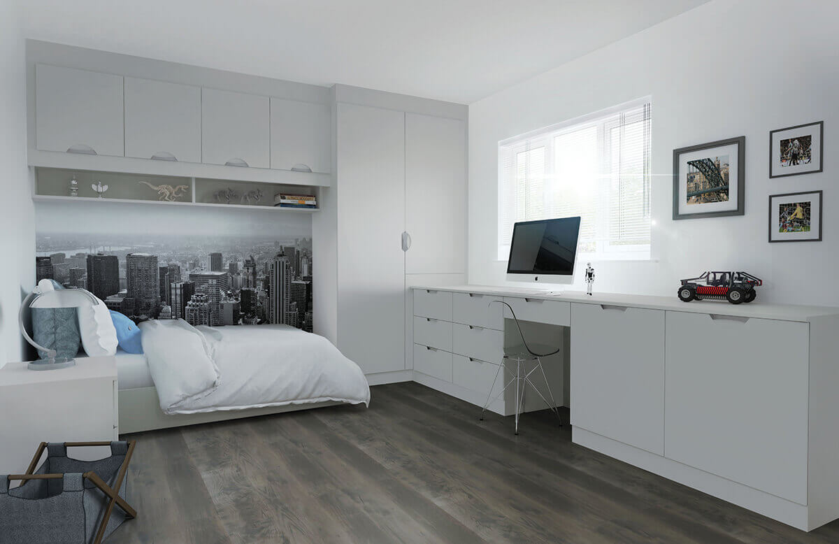 Coniston Bedrooms Scoop Matt Light Grey