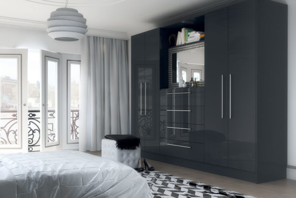 Vivo Gloss Bedroom Anthracite 1